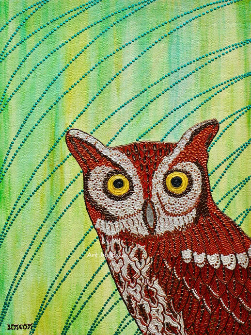 Eastern Screech Owl - Art by Bala