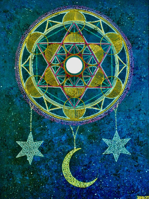 Cosmic Bloom Mandala - Art by Bala
