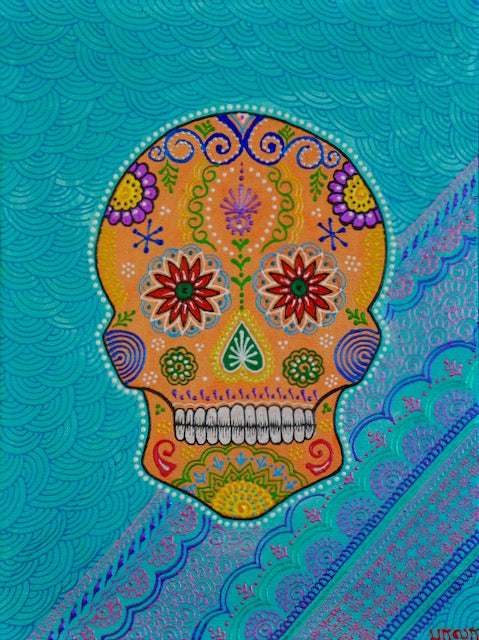 Sugarskull - Blue - Art by Bala