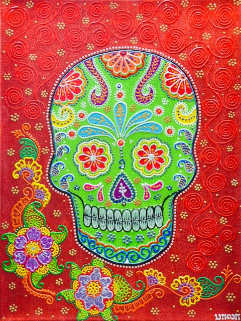 Sugarskull - Red - Art by Bala