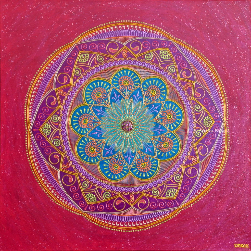 Contentment Mandala - Art by Bala