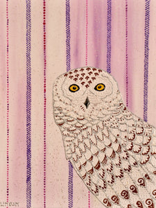 Snowy Owl - Art by Bala