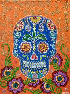 Sugarskull - Orange - Art by Bala