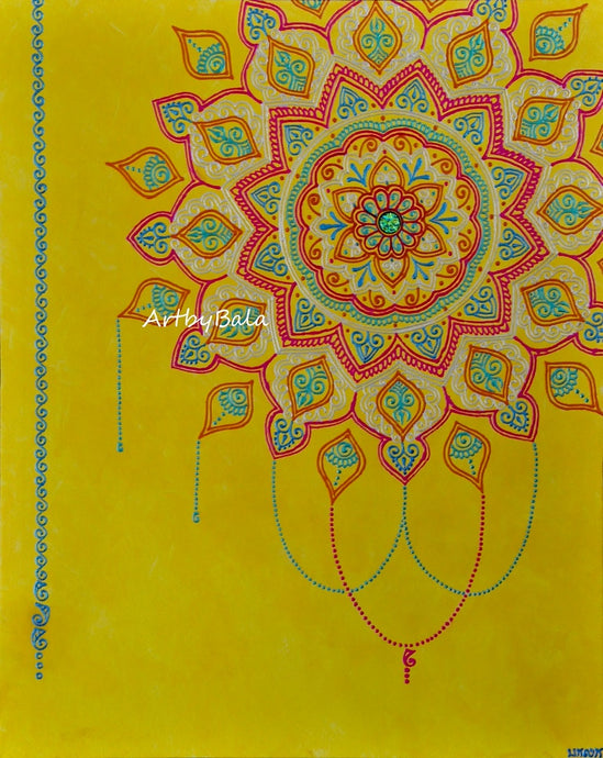 Chandelier Mandala - Art by Bala