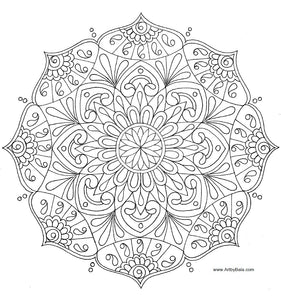 Mandala Coloring Page - Art by Bala