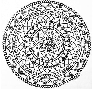 Mandala Coloring Page - 3 - Art by Bala
