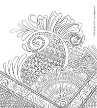 Load image into Gallery viewer, Henna Abstract Coloring Page - Art by Bala