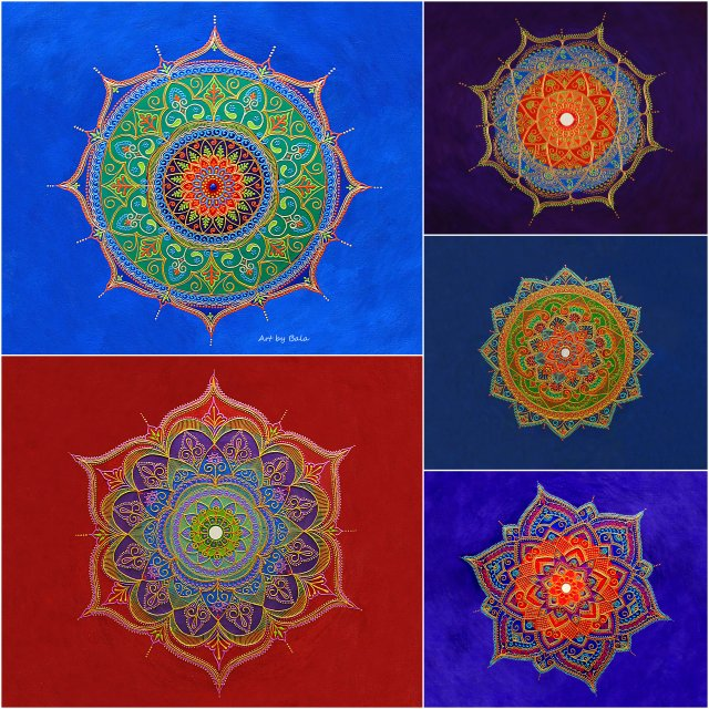 Mandala Notecards 1 - Art by Bala