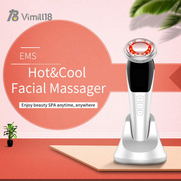 Portable Electrical Muscle Stimulation Hot & Cold EMS Facial Massager Skin Care Device for Face Eye and Neck anti wrinkle-Age Me Gracefully