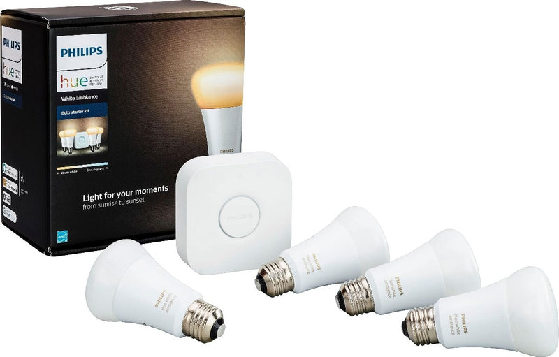 Philips Hue White Ambiance A19 LED Starter Kit - Adjustable White