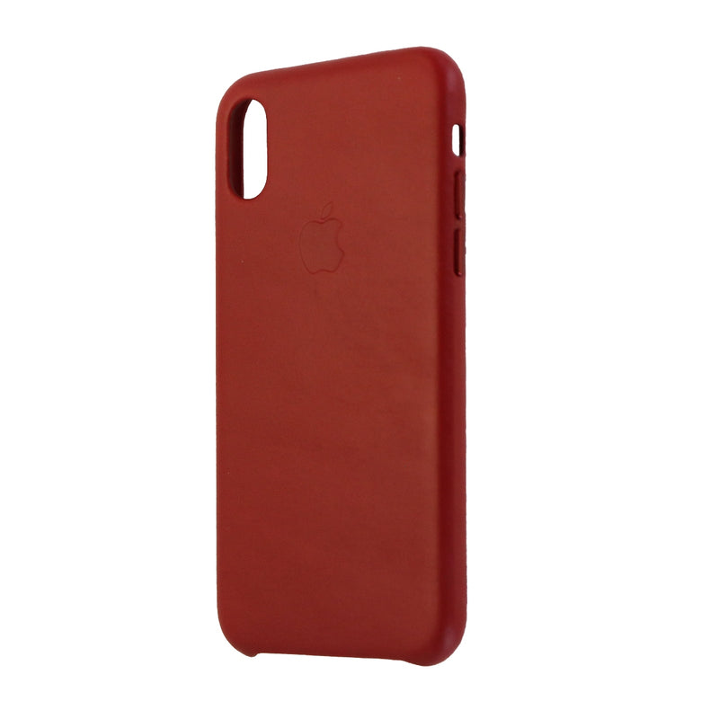 Apple Leather Case Cover for Apple iPhone X 10 - Red Leather