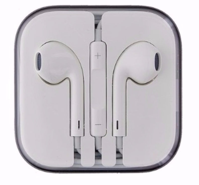Apple 3.5mm Wired Earbud Headphones with In-line Remote/Mic - White (MD827LL/A)