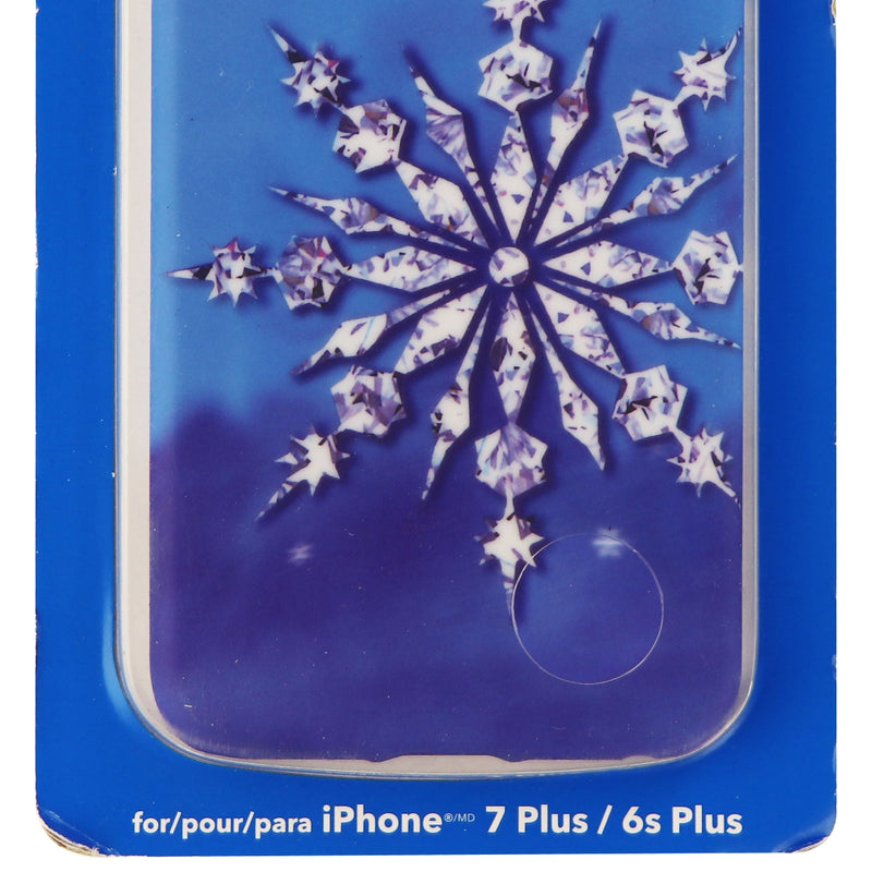 Dynex Snap on Protective Case Cover for iPhone 6s Plus 6 Plus - Blue Snowflake