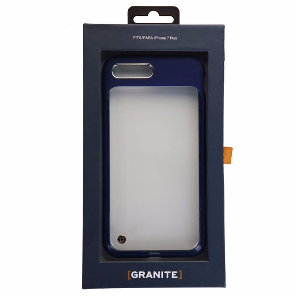 Granite Mono Series Hybrid Case Cover iPhone 8 Plus / 7 Plus - Clear / Navy Blue