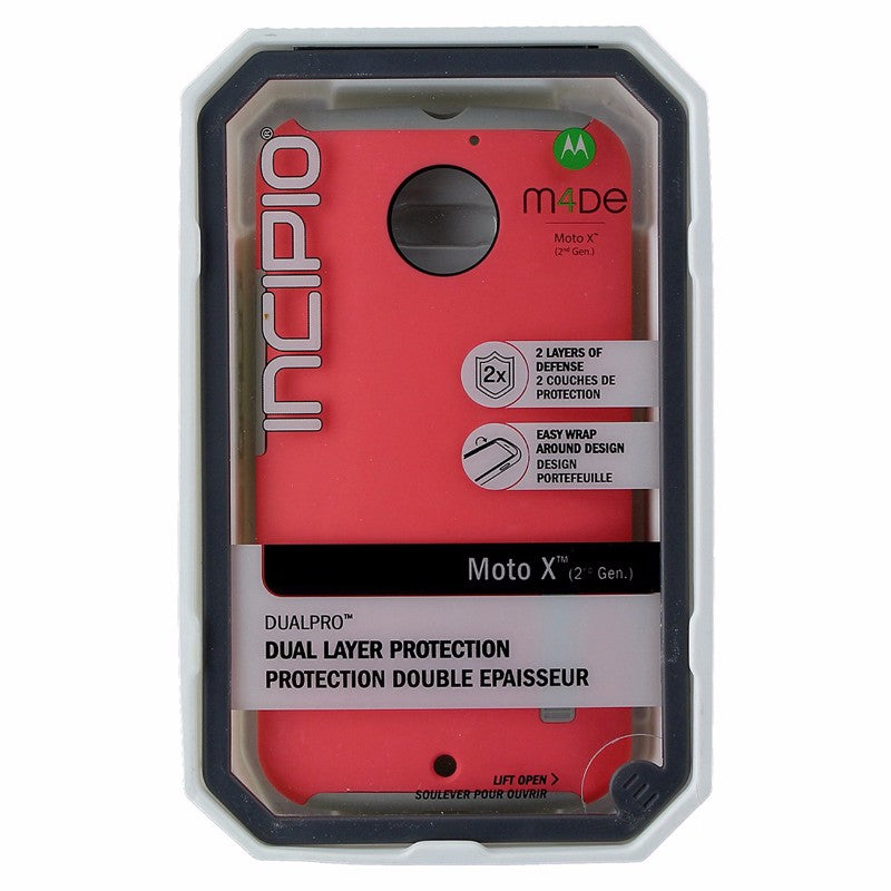 Incipio DualPro Series Case for Motorola Moto X 1st Gen - Coral Pink / Gray