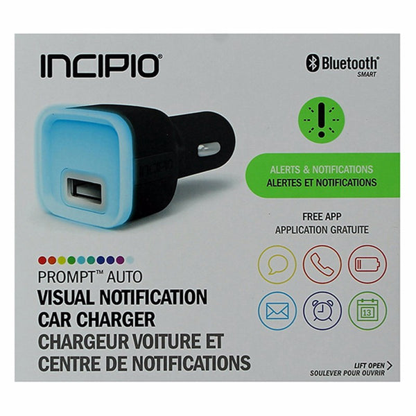 Incipio (2.4-Amp) Light Up USB Car Charging Adapter for Notifications - Black