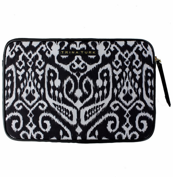 M-Edge Trina Turk Protective Pouch Sleeve Case for 9-10 in Tablets - Black/White