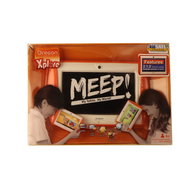 Original Meep Android 4.0 Educational Game Tablet Ages 6 Plus - White / Orange