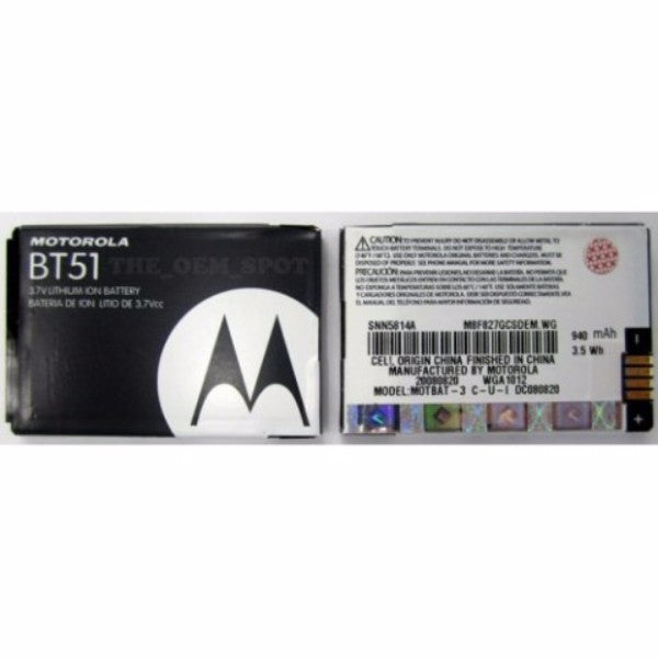 OEM Motorola BT51 940 mAh Replacement Battery for W220/W385/W315