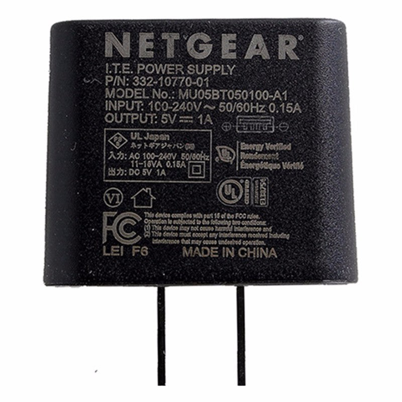 NetGear Single 5-Volt/1-Amp USB Wall Charger Travel Adapter - Black MU05BT050100