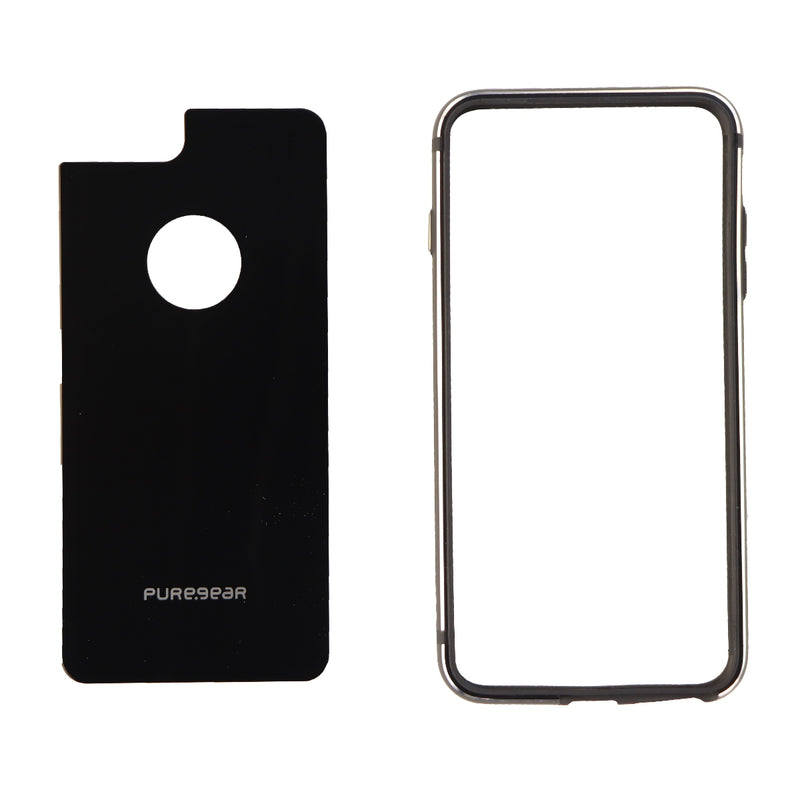 PureGear GlassBak 360 Metal Bumper and Glass for iPhone 8 Plus 7 Plus - Black