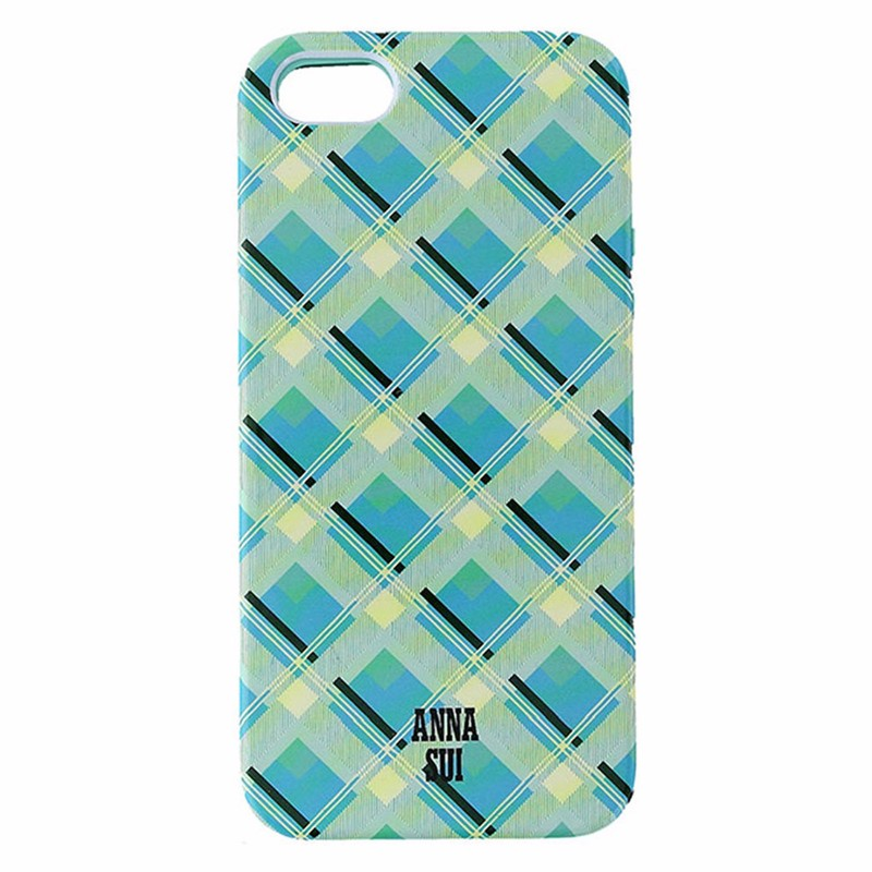 Anna Sui Dual Layer Case for Apple iPhone 5/5S/SE - Blue and Green Plaid