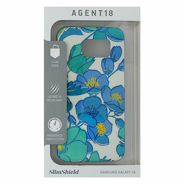 Agent18 SlimShield Series Case for Samsung Galaxy S6 - Blue/Teal Flowers