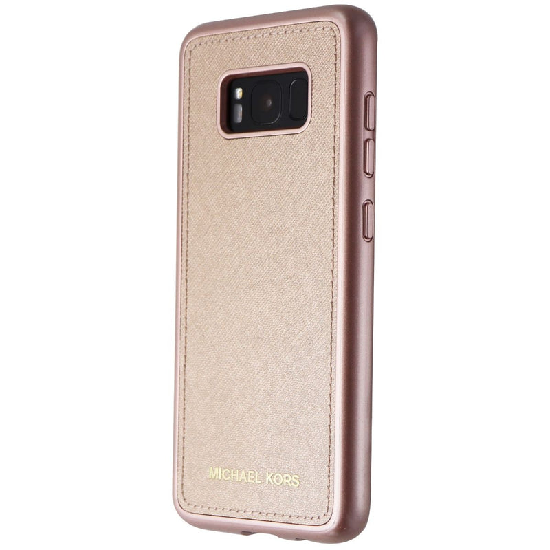 Michael Kors Snap-On Leather Case for Samsung Galaxy S8 - Rose Gold