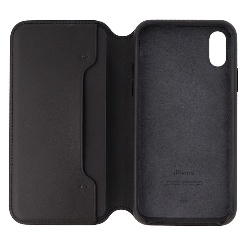 Apple (MRWW2ZM/A) Leather Folio Case for iPhone Xs - Black Leather