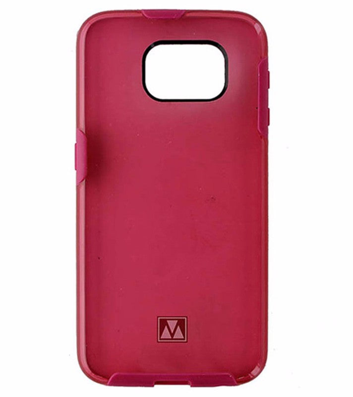 M-Edge Glimpse Hybrid Case for Samsung Galaxy S6 - Transparent Pink / Pink