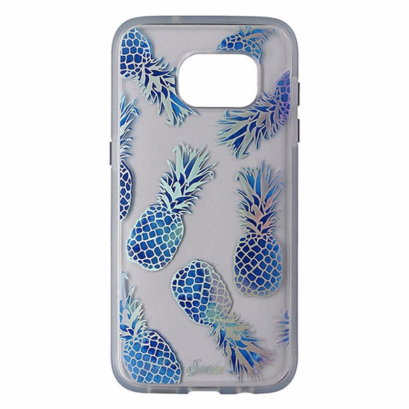 Sonix Clear Coat Case for Samsung Galaxy S7 Edge - Clear / Blue / Pineapples
