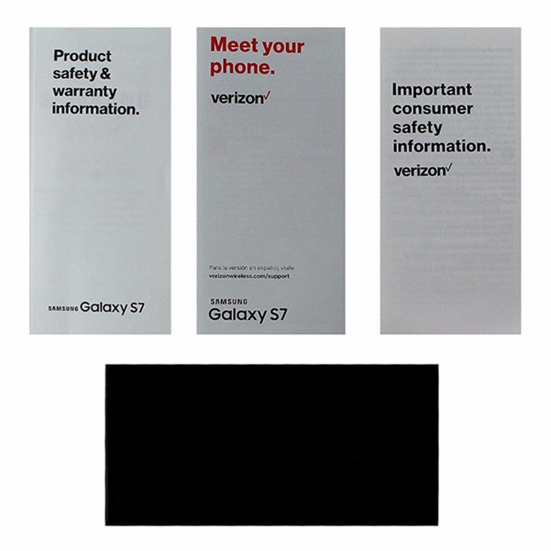 OEM Verizon Samsung Galaxy S7 Manual / Consumer Info / Product Safety Info