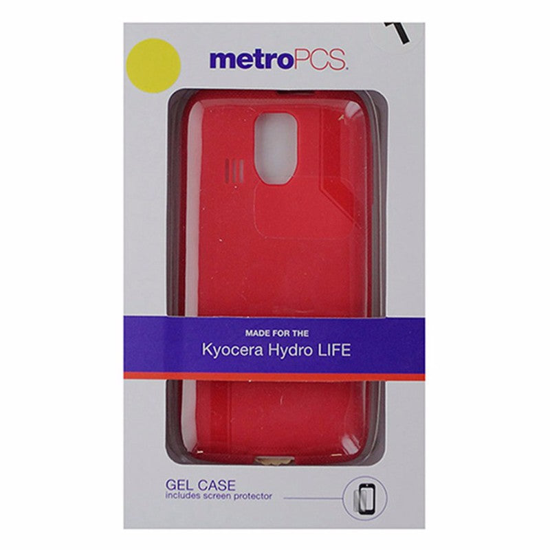 MetroPCS Flexible Gel Case for Kyocera Hydro LIFE - Red