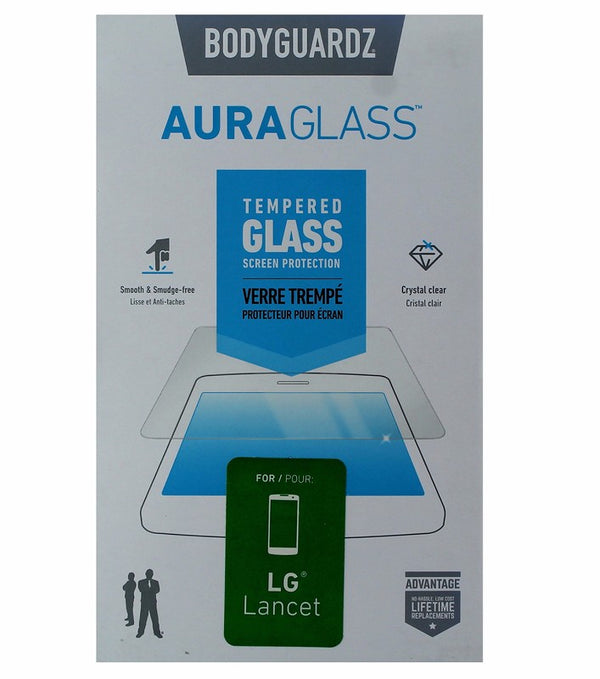 BodyGuardz Aura Glass Tempered Glass Screen Protector for LG Lancet - Clear