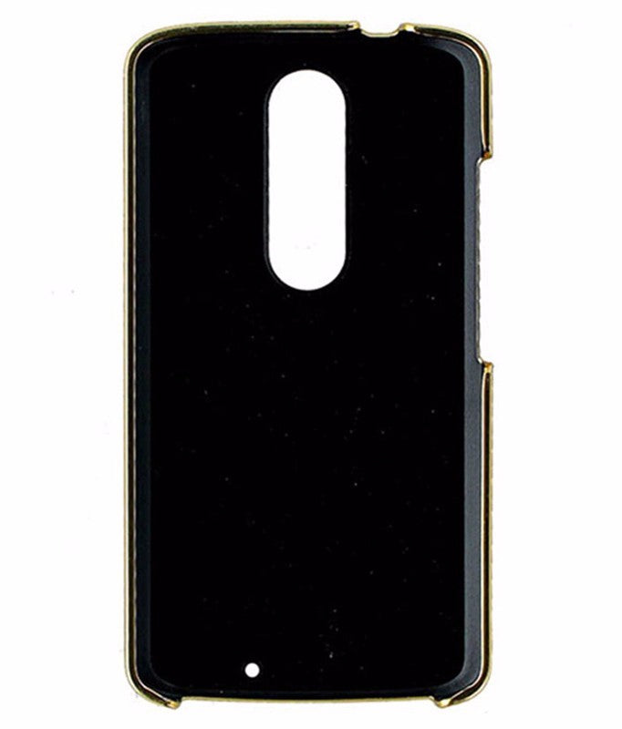 Kate Spade Wrap Case for Motorola Droid Turbo 2 - Saffiano Leather Black Gold