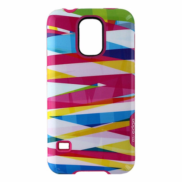 M-Edge Echo Hybrid Protective Case for Samsung Galaxy S5 - Pink / Multi Ribbon