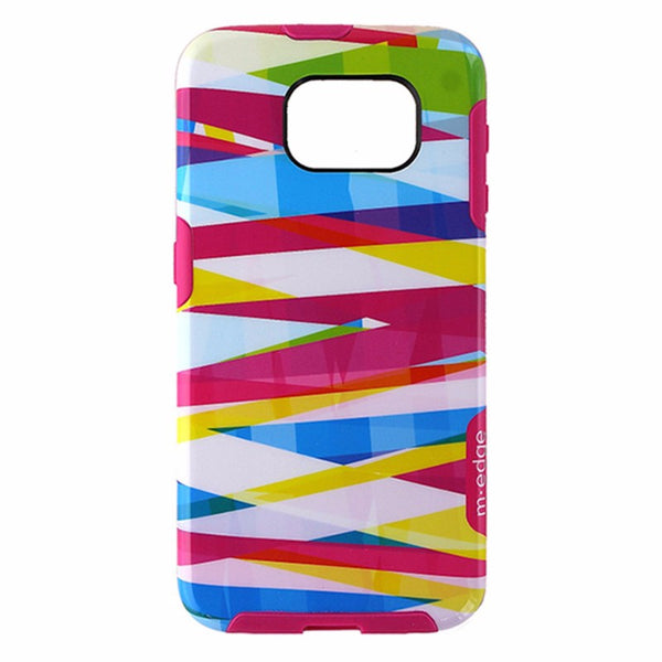 M-Edge Echo Hybrid Case for samsung Galaxy S6 - Pink / Multi Ribbon