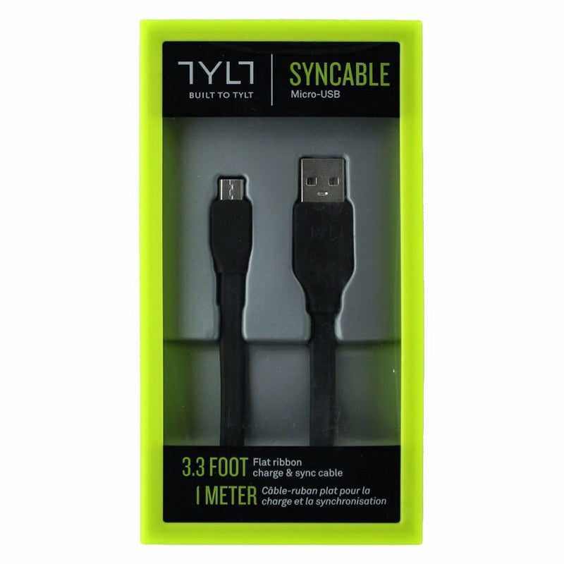 TYLT (MIC-DATA1MBK -T)  3.3Ft Charge & Sync Cable for Micro USB Devices - Black