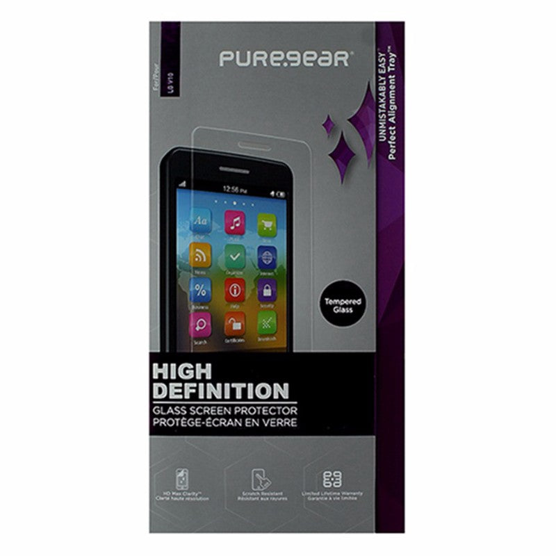 PureGear High Definition Tempered Glass Screen Protector for LG V10 - Clear