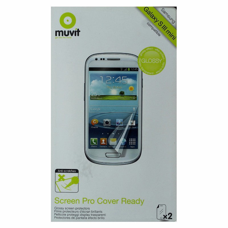 Muvit Screen Protector 2 Pack for Samsung Galaxy S III mini (S3 mini) - Clear