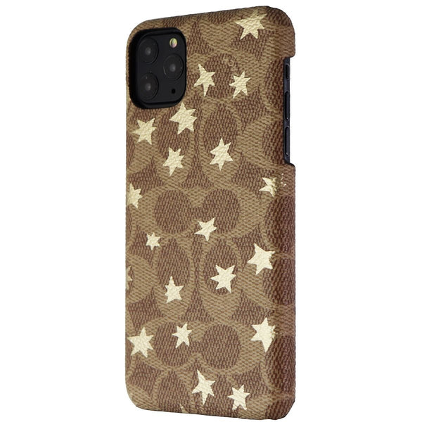 Coach Slim Wrap Case for Apple iPhone 11 Pro Max - Khaki / Gold Foil Stars