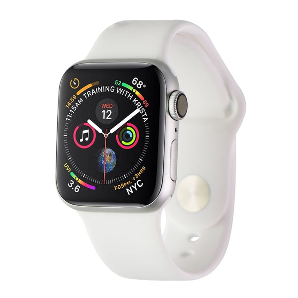 Apple Watch Series 4 (A1977) GPS Only - 40mm Silver Aluminum/White Sport Band