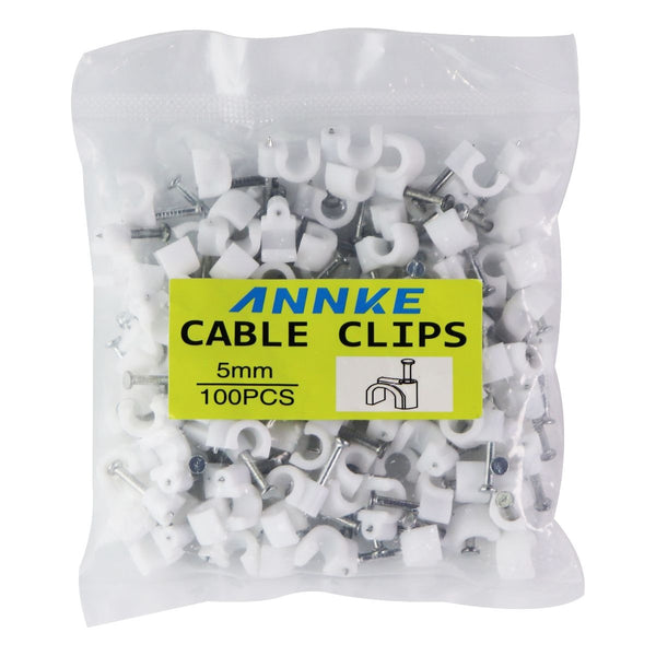 Annke Cable and Wire Clips (5mm / 100 Clips) - White