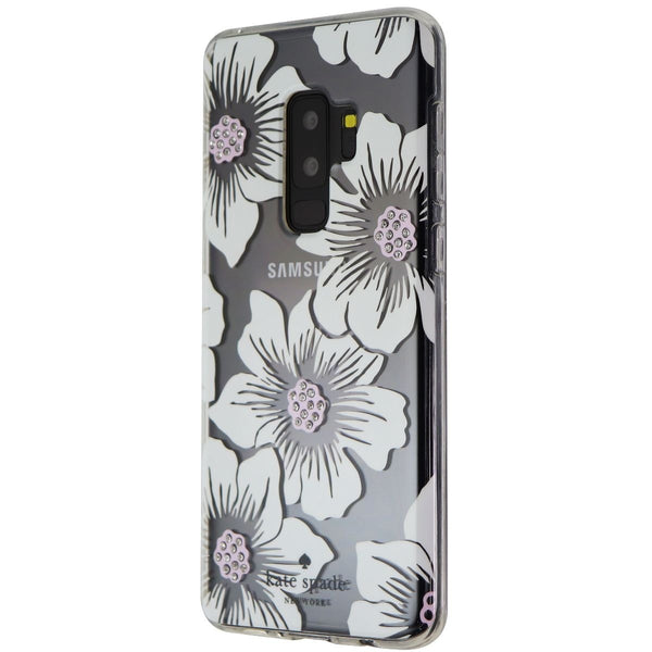 Kate Spade Hard Case for Samsung Galaxy S9+ (Plus) - Clear/White Flower/Gems