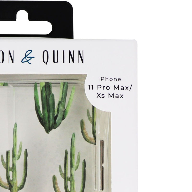 Carson & Quinn Hybrid Case for iPhone 11 Pro Max/Xs Max - Clear/Cactus Pattern