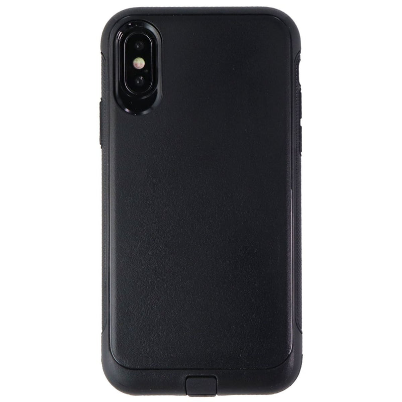 Verizon Rugged Series Dual Layer Case for Apple iPhone XS and X - Black