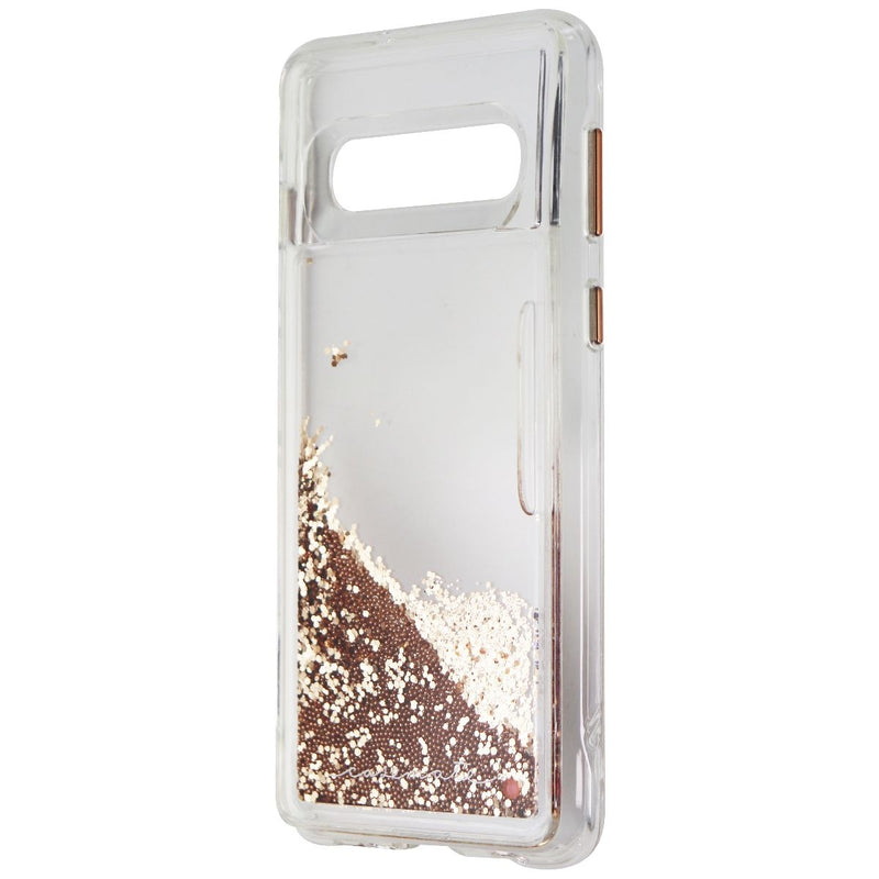 Case-Mate Waterfall Liquid Glitter Case for Samsung Galaxy S10 - Clear/Gold