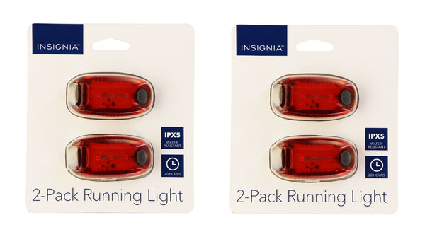 Insignia 2x (2 Pack of LED) Running Lights for Running/Walking/Biking - Red