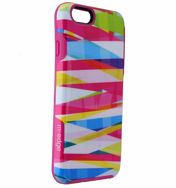 M-Edge Echo Hard Case for Apple iPhone 6s & iPhone 6 - Pink / Colorful Stripes