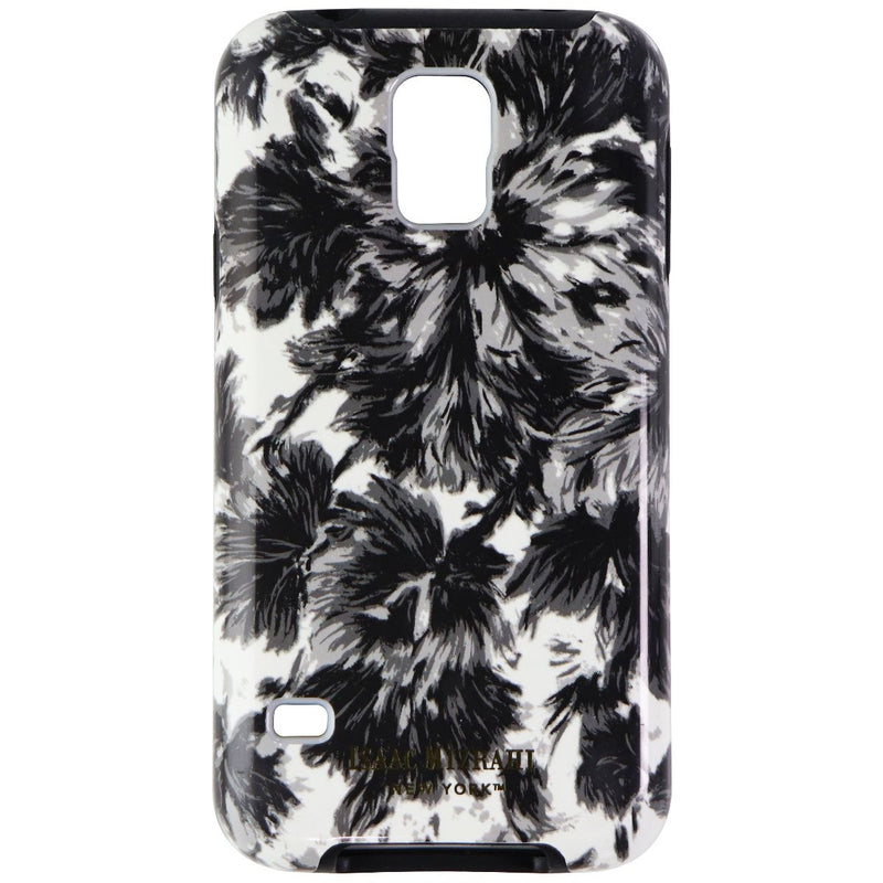 Isaac Mizrahi New York Protective Case Cover for Galaxy S5 - Black White Flower